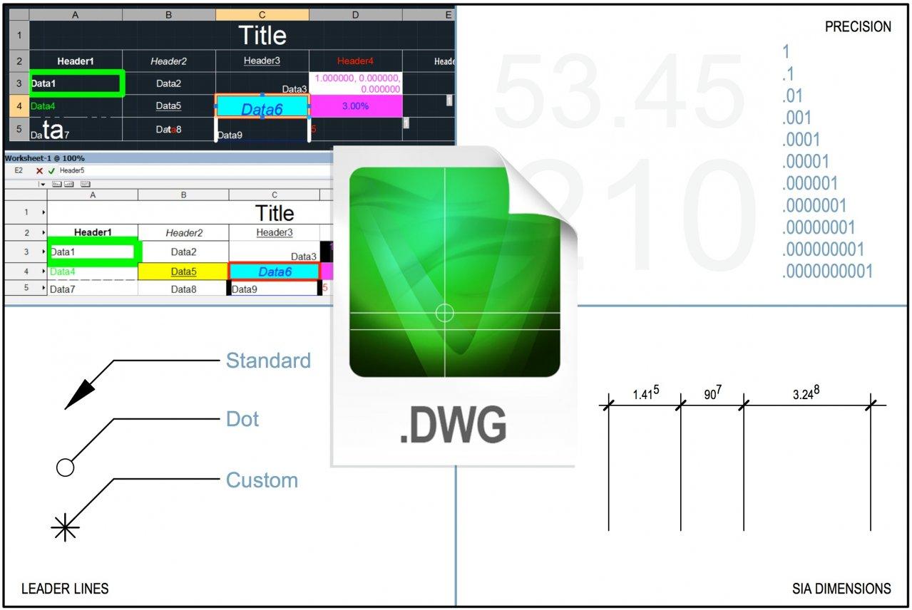 DXF/DWG/DWF Improvements
