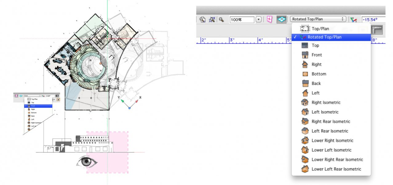 Rotated Plan and 3D Views