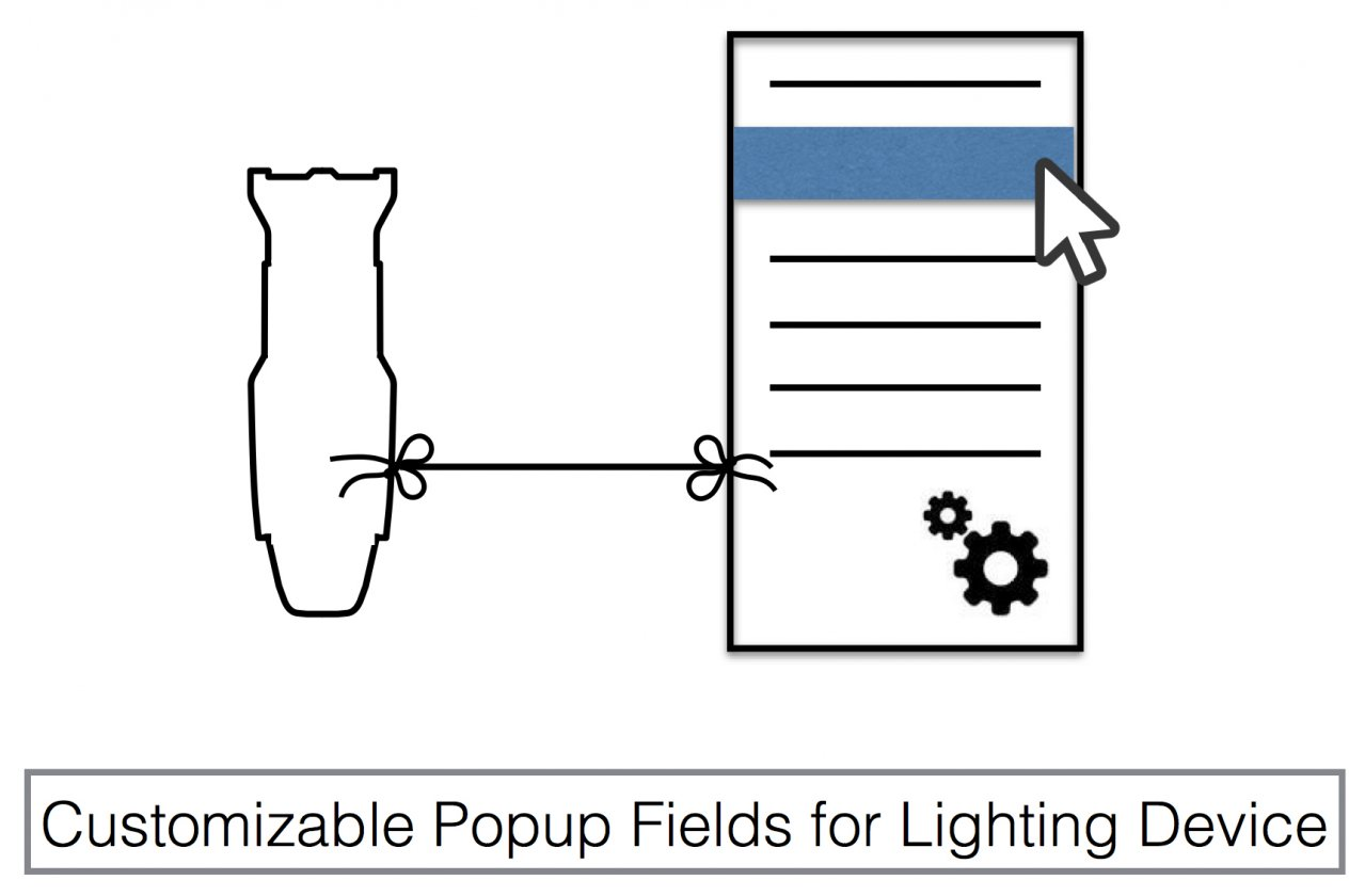 Pop-up Parameter Types for Lighting Devices