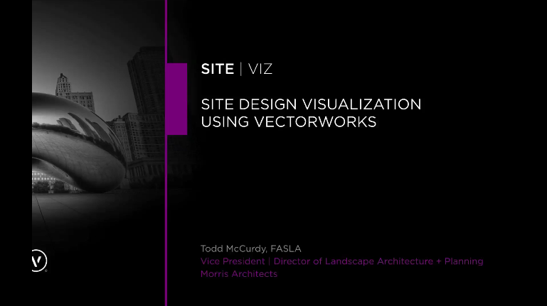 Site viz site design visualization using vectorworks on