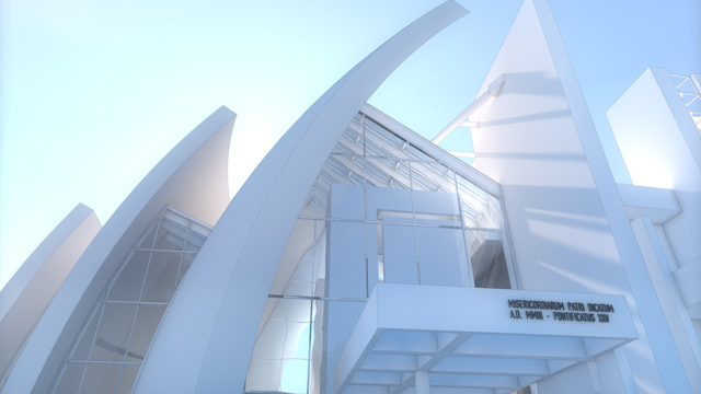 With Vectorworks Software Richard Meier S Jubilee Church Replicated Using Vectorworks Software S Powerful 3d Modeling Tools