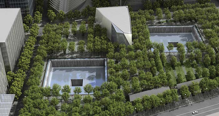 Rendering of September 11th memorial