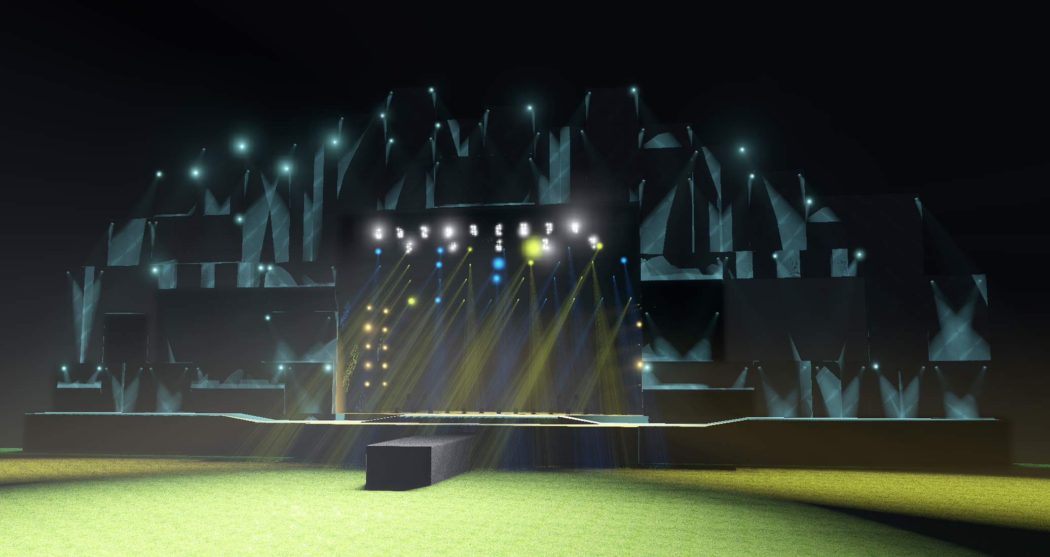 ROCK IN RIO LISBON Stage Previsualization | DESIGN BY WOODROFFE BASSETT